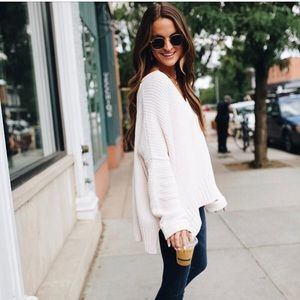 Free people take me over sweater white XS/S